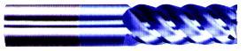 45 deg Helix - Premium Fine Grain Carbide - Center Cuttting