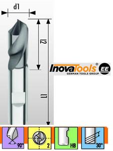 Inova Drill - Solid Carbide Drill - Extra Short