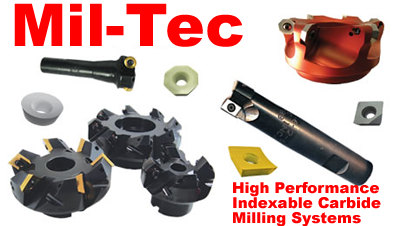 Mil-Tec Indexable Carbide Milling Systems